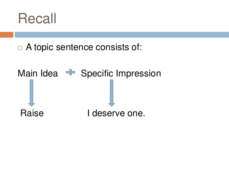 What is primary supporting sentences?