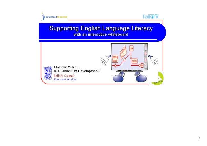 SupportingEnglishLanguageLiteracy             withaninteractivewhiteboard             withaninteractivewhiteboard...