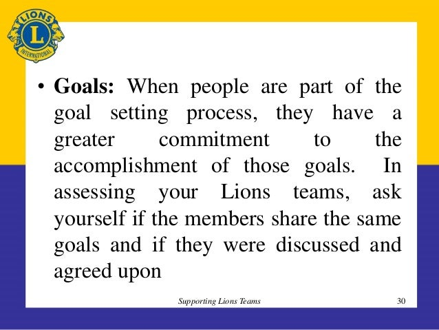 enjoying the task is more important than reaching the goal By observing, understanding, and giving attention to these five areas, groups can improve their processes, accomplish more goals, and provide more satisfaction for the members climate : this includes both the physical and the emotional climate that are important to the well-being and growth of the team.