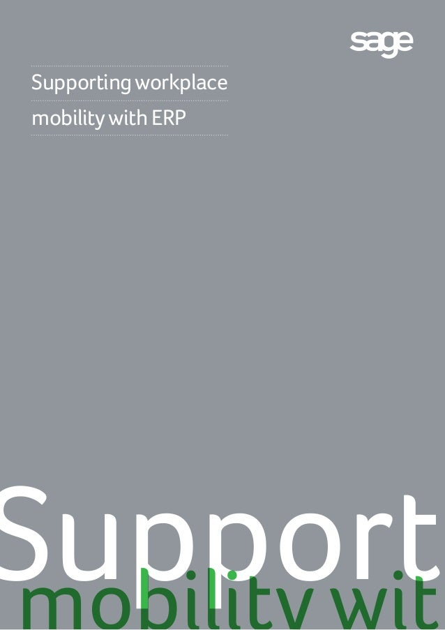 Supporting workplace mobility with ERP  Supporti mobility with
