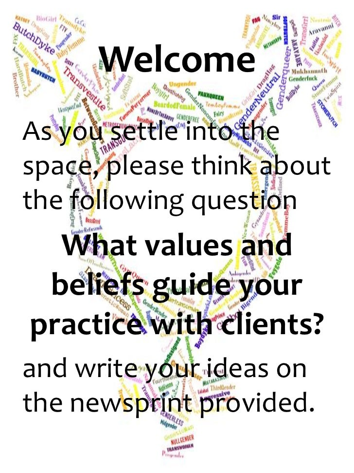 WelcomeAs you settle into thespace, please think aboutthe following question  What values and beliefs guide yourpractice w...