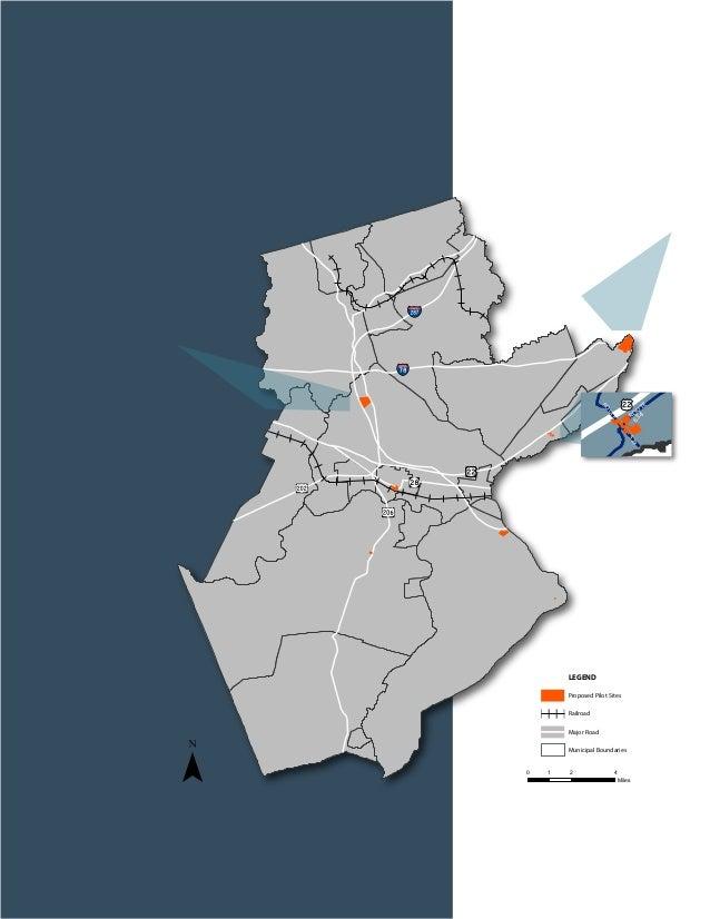 ¯ Proposed Pilot Sites Railroad Major Road Municipal Boundaries LEGEND 0 2 41 Miles ROUTE ROUTE ROUTE OUTE ROUTE 612 619 5...