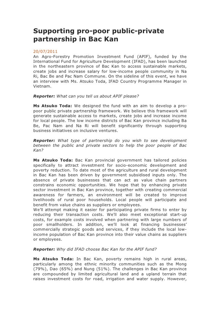 Supporting pro-poor public-private partnership in Bac Kan<br />20/07/2011<br />An Agro-Forestry Promotion Investment Fund ...