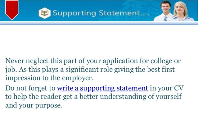 5 reasons you need supporting statement when applying for