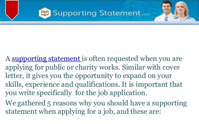 5 Reasons You Need Supporting Statement When Applying for A Job
