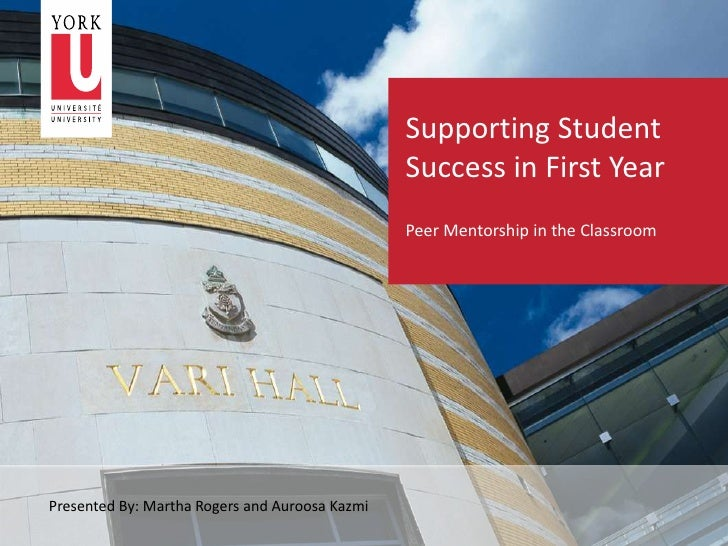 Supporting Student                                                Success in First Year                                   ...