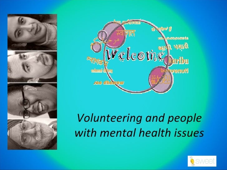 Volunteering and people with mental health issues