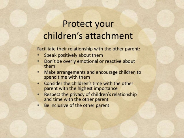 new relationship after separation Children's reactions to divorce and separation  long-term adjustment to the new  'no matter how difficult it is to maintain a good relationship.