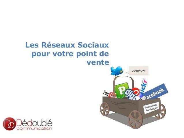 slided by nereÿs  Les Réseaux Sociaux pour votre point de vente