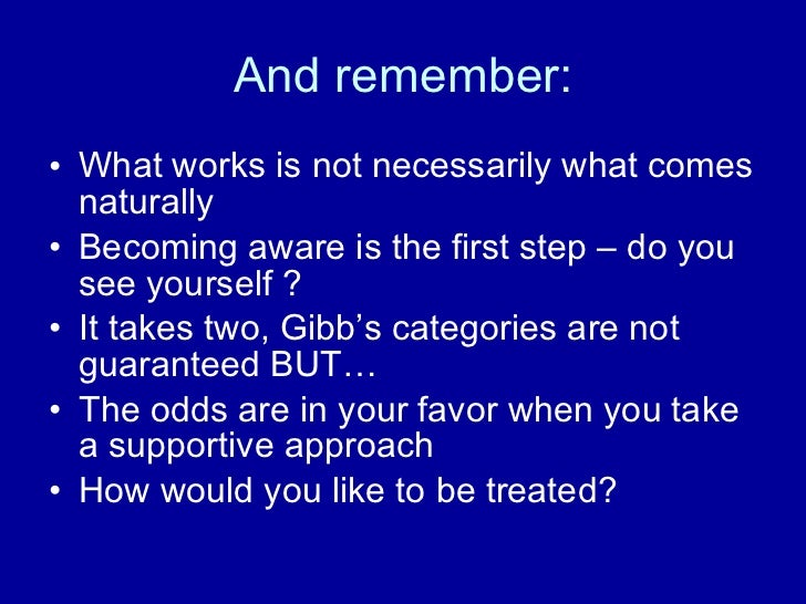 supportive or defensive communication climate