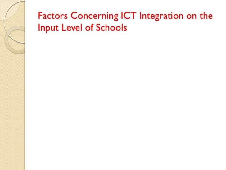 influences of ict in media The beliefs behind the teacher that influences their ict practices  evident in this literature are the influences on teacher beliefs about ict  media and.