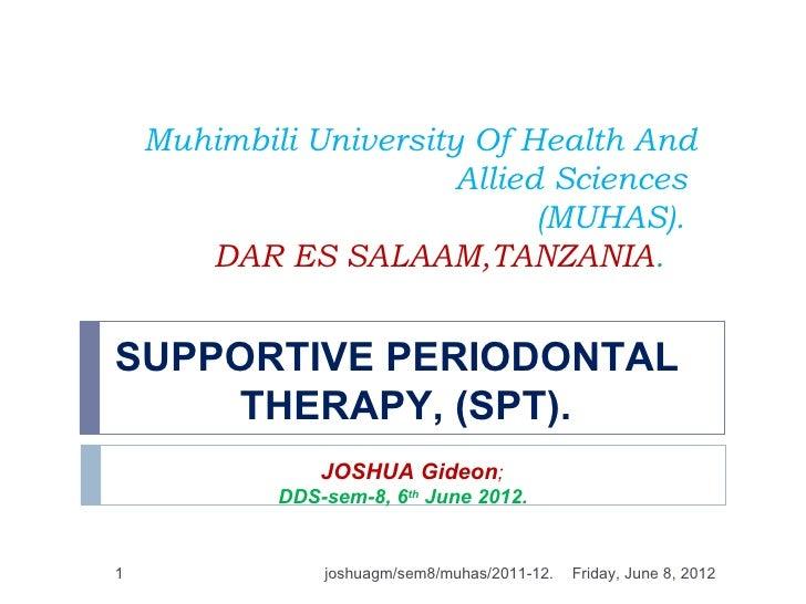 Muhimbili University Of Health And                        Allied Sciences                              (MUHAS).       DAR ...