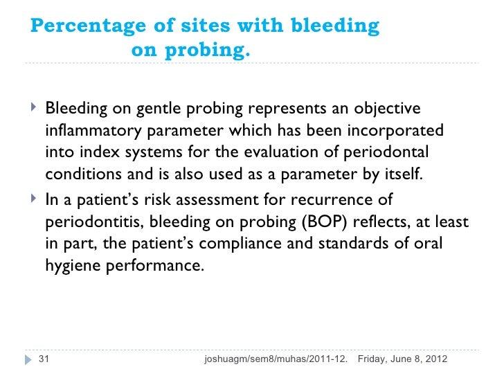Bleeding on probing