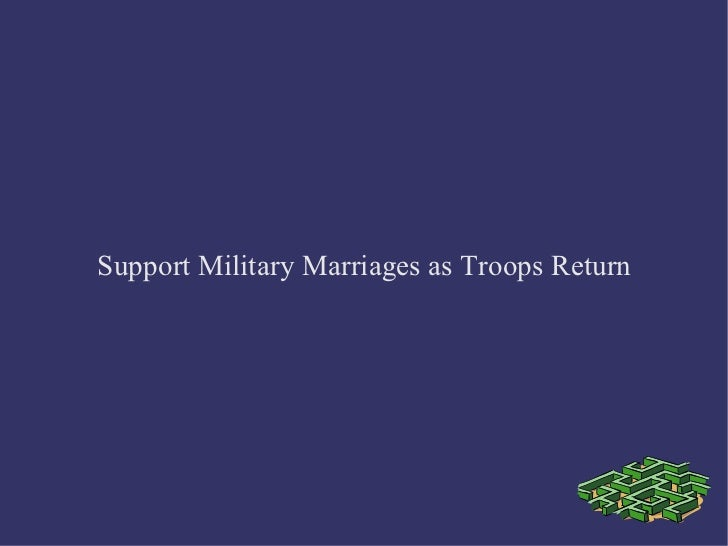 Support Military Marriages as Troops Return