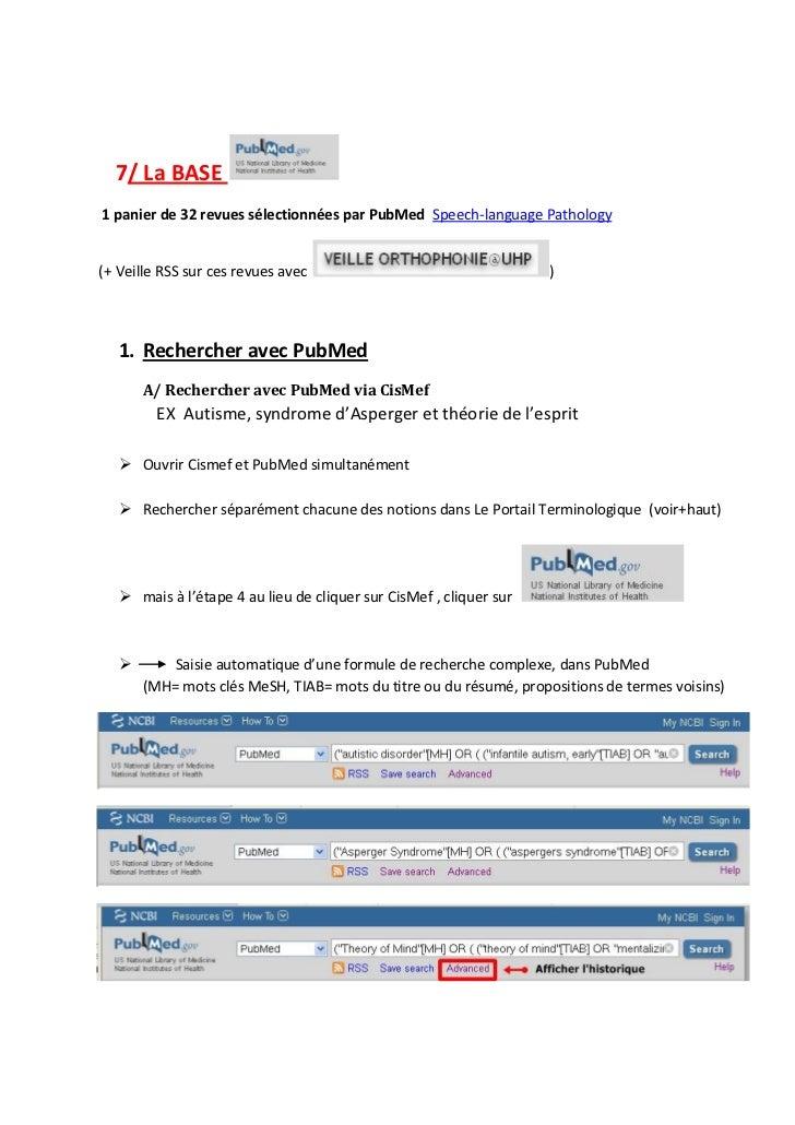 7/ La BASE1 panier de 32 revues sélectionnées par PubMed Speech-language Pathology(+ Veille RSS sur ces revues avec       ...