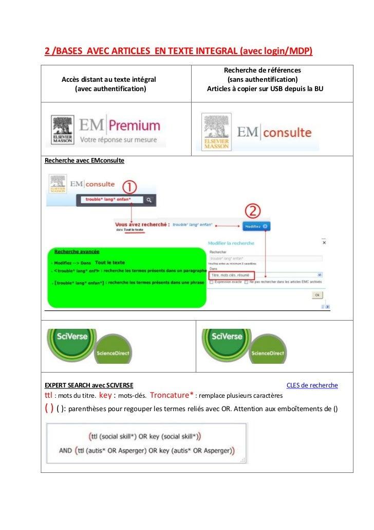2 /BASES AVEC ARTICLES EN TEXTE INTEGRAL (avec login/MDP)                                                                R...