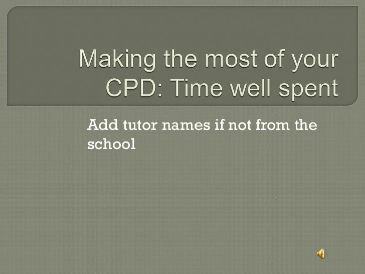 Add tutor names if not from the school