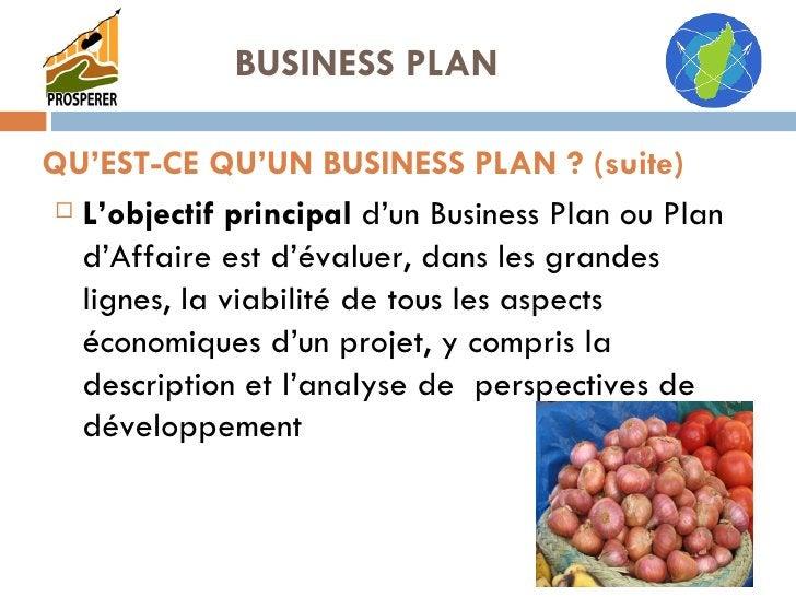 <ul><li>L'objectif principal  d'un Business Plan ou Plan d'Affaire est d'évaluer, dans les grandes lignes, la viabilité de...