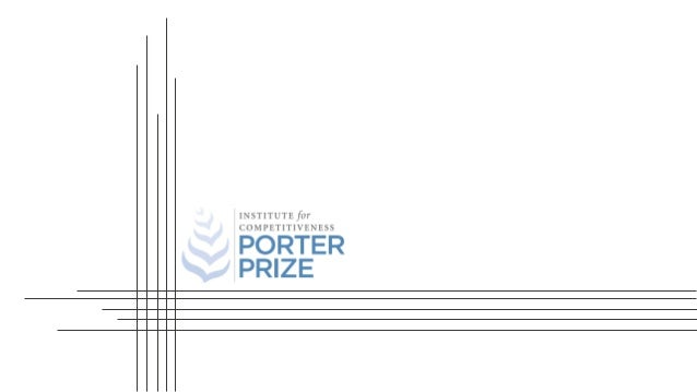 PORTER PRIZE 2019 RECOGNIZING THE STRATEGIC ACUMEN OF CORPORATES IN INDIA
