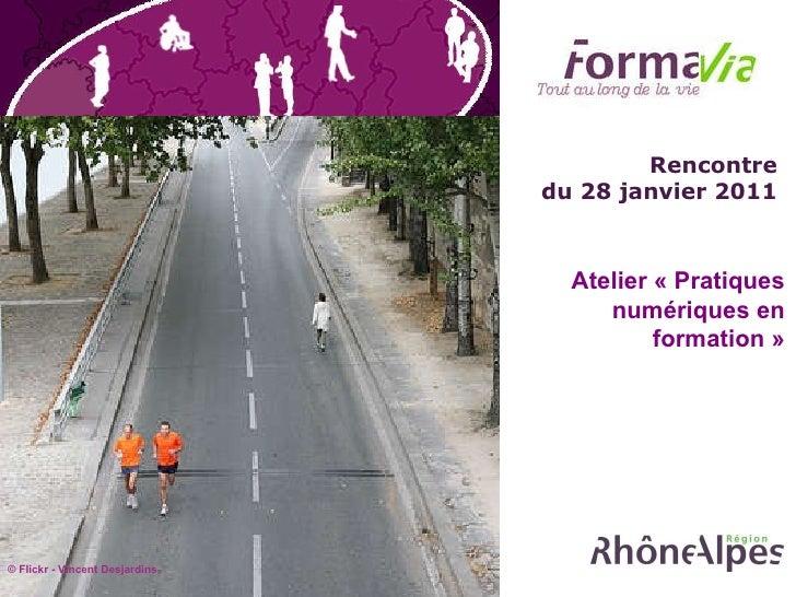 Rencontre  du 28 janvier 2011  Atelier « Pratiques numériques en formation » © Flickr -  Vincent Desjardins