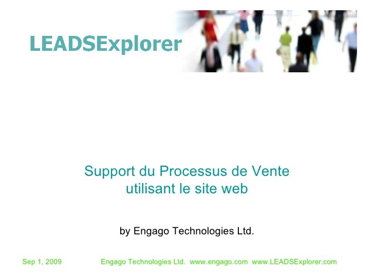 by Engago Technologies Ltd. Support du Processus de Vente utilisant le site web