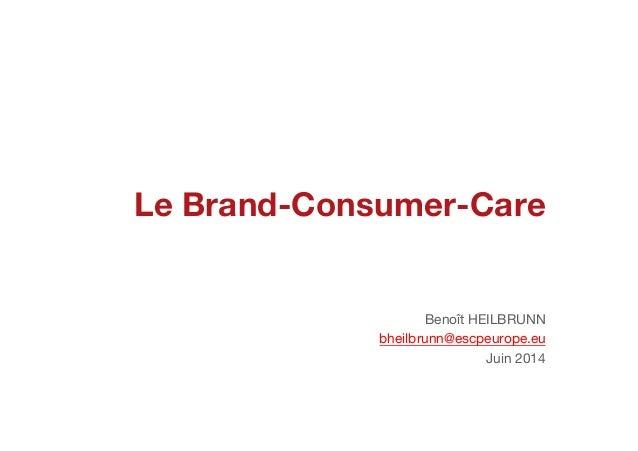 Le Brand-Consumer-Care Benoît HEILBRUNN bheilbrunn@escpeurope.eu Juin 2014