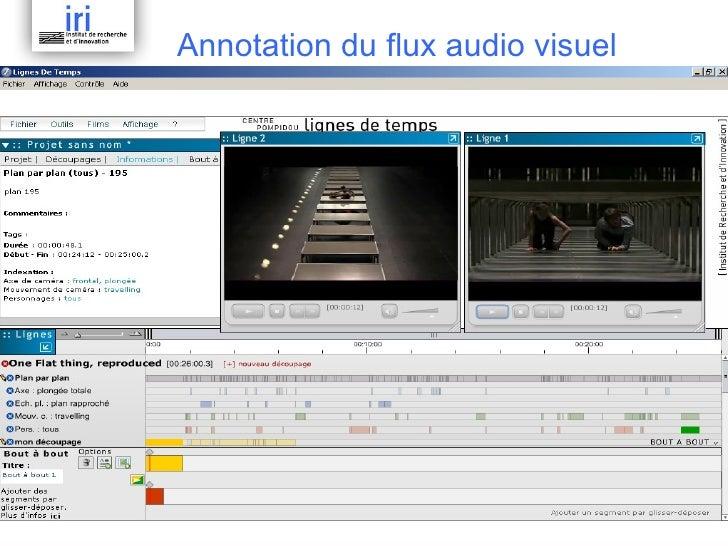 Annotation du flux audio visuel