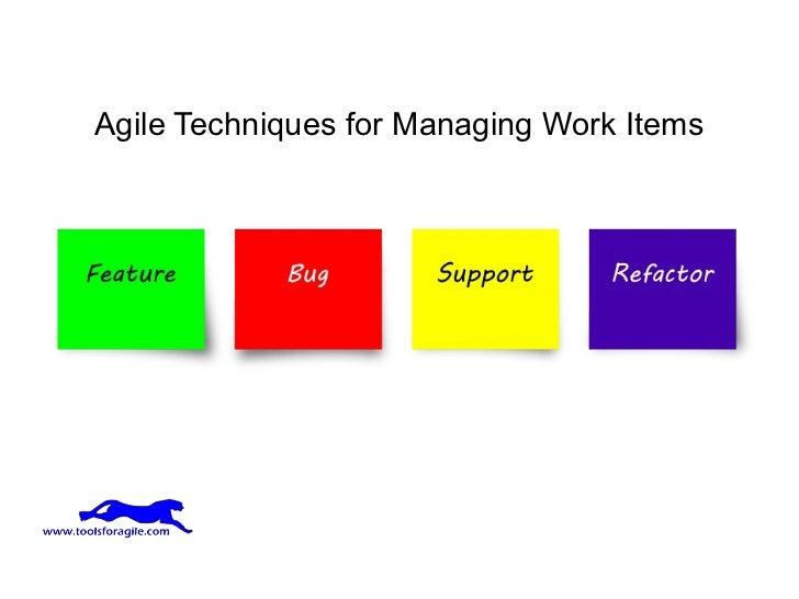 Agile Techniques for Managing Work Items