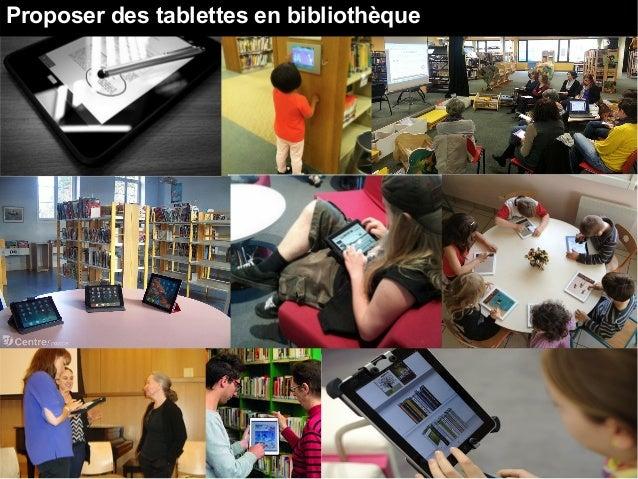 Proposer des tablettes en bibliothèque