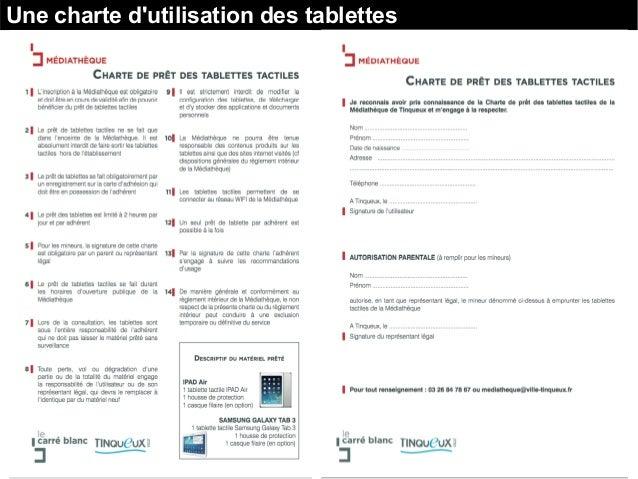 Une charte d'utilisation des tablettes