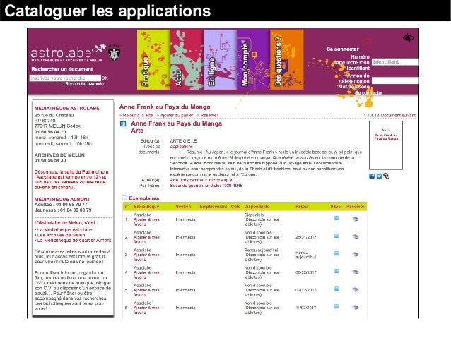 Cataloguer les applications