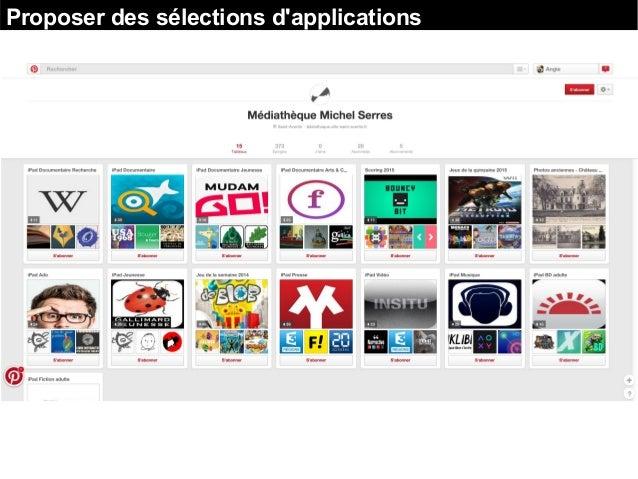 Proposer des sélections d'applications