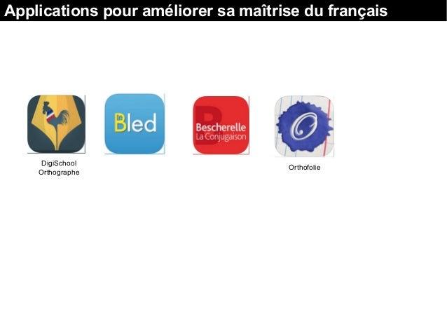 DigiSchool Orthographe Applications pour améliorer sa maîtrise du français Orthofolie