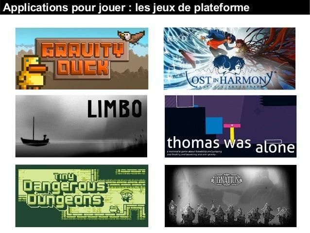 Applications pour jouer : les jeux de plateforme