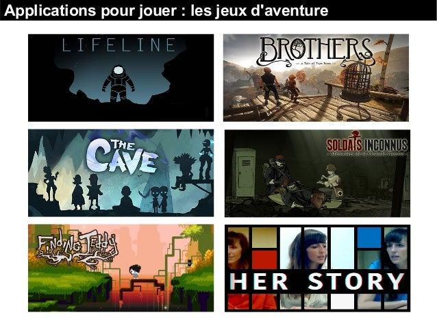 Applications pour jouer : les jeux d'aventure