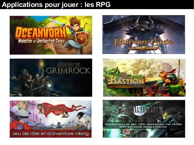 Applications pour jouer : les RPG