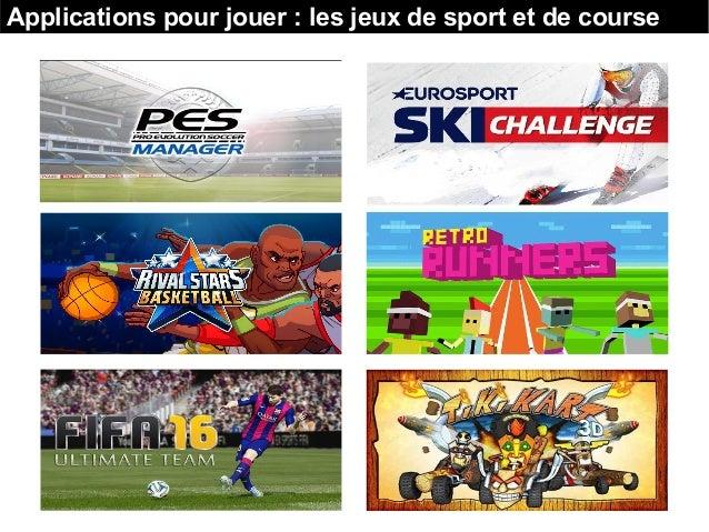 Applications pour jouer : les jeux de sport et de course