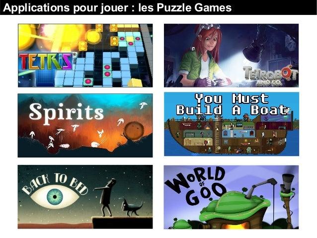 Applications pour jouer : les Puzzle Games