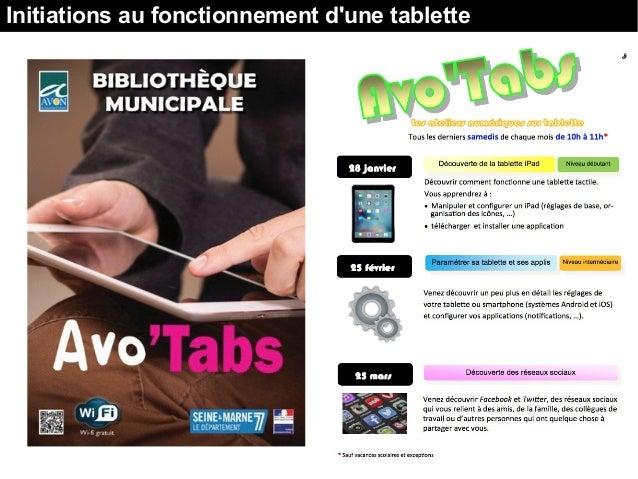 Initiations au fonctionnement d'une tablette