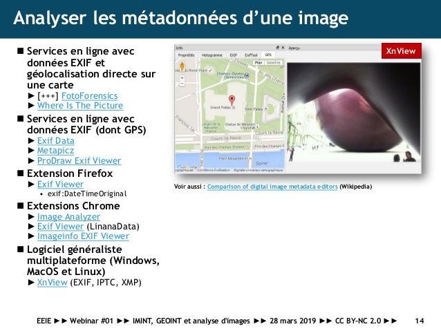 Webinar EEIE #01 : analyse d'image, GEOINT, IMINT