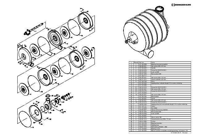 Kongsklide Supra vac 2000 parts catalog
