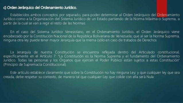 La Supremacía De La Constitución Estructura Jerárquica Del