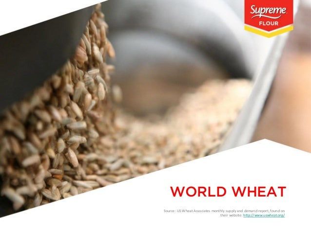 WORLD WHEAT Source: US Wheat Associates monthly supply and demand report, found on their website: http://www.uswheat.org/