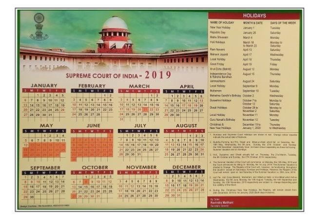 Supreme Court Calendar 2022.Supreme Court Calendar 2019