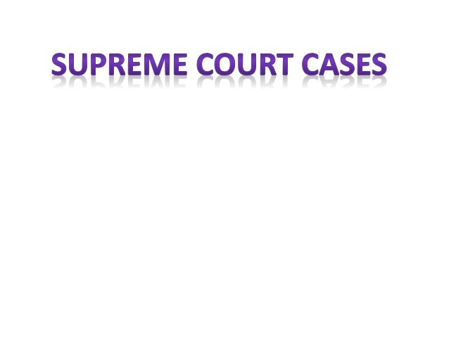 Supreme court case analysis