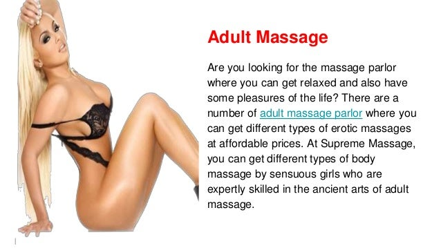 Different types of sexual massages