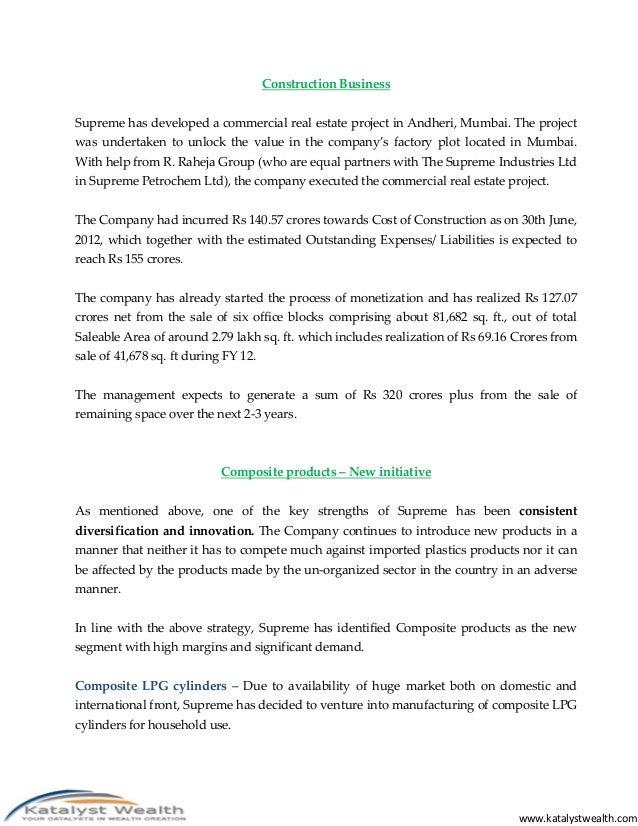 Supreme industries ltd nse supremeind aug12 katalyst wealth al 22 publicscrutiny Gallery