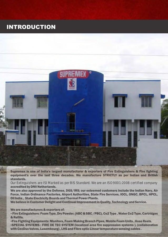 Supremex Equipments, Mumbai, Fire Extinguishers & Fighting Equipment Slide 3