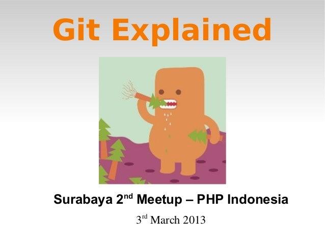 Git ExplainedSurabaya 2nd Meetup – PHP Indonesia            3rdMarch2013