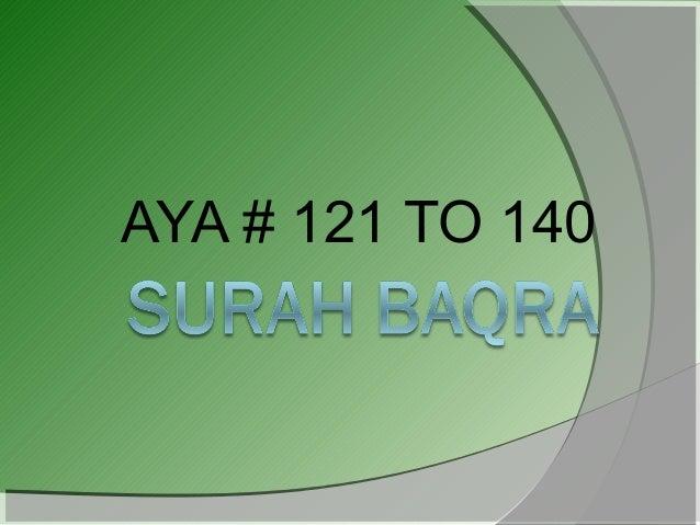AYA # 121 TO 140